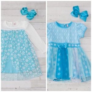 Other - Frozen Inspired Elsa Boutique Dress - 2 Styles